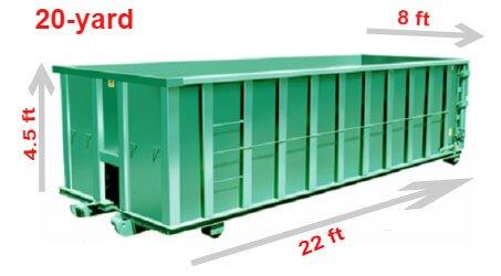 Dumpster Size For  Car Garage Demolition