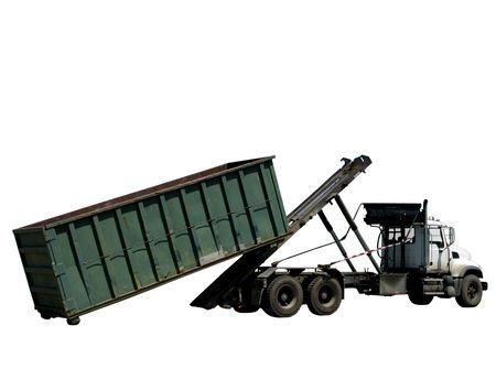 trash dumpster rental truck- dumpsterpod